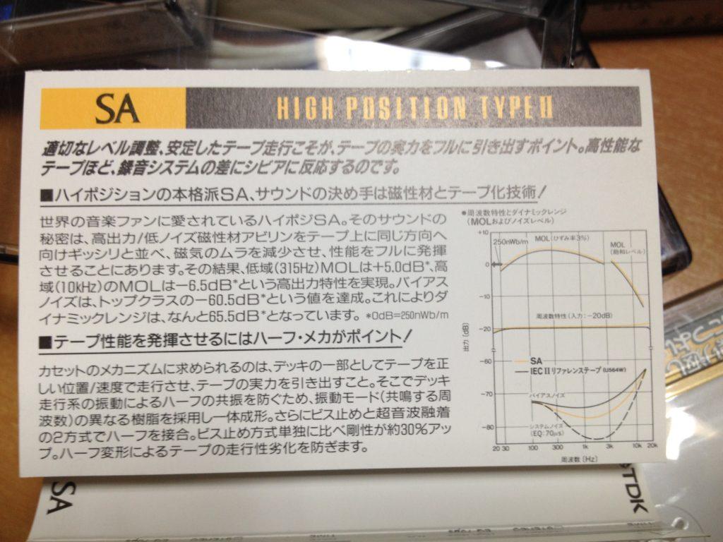 TDK SA カセットの説明